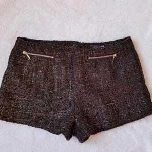 Forever21 High Waist Black and Gold Shimmer Shorts